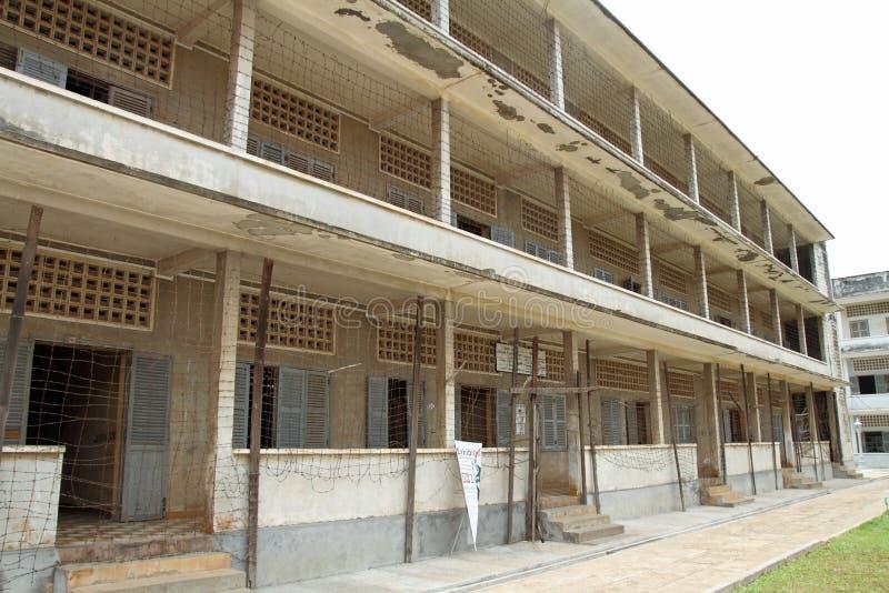 De Volkerenmoordmuseum van Tuolsleng in Phnom Penh stock fotografie