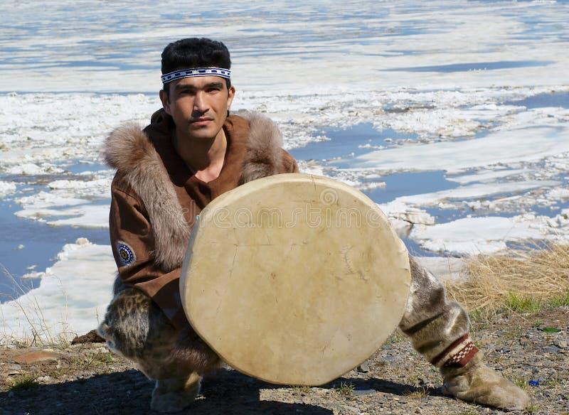De volksdans van Chukchi stock foto