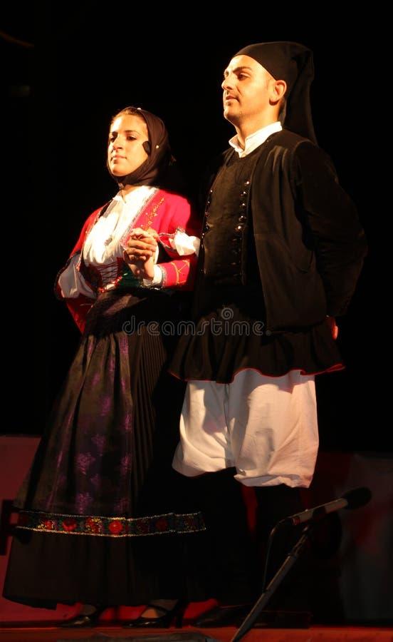 De volksdansers van Populares van Tradissiones royalty-vrije stock foto's
