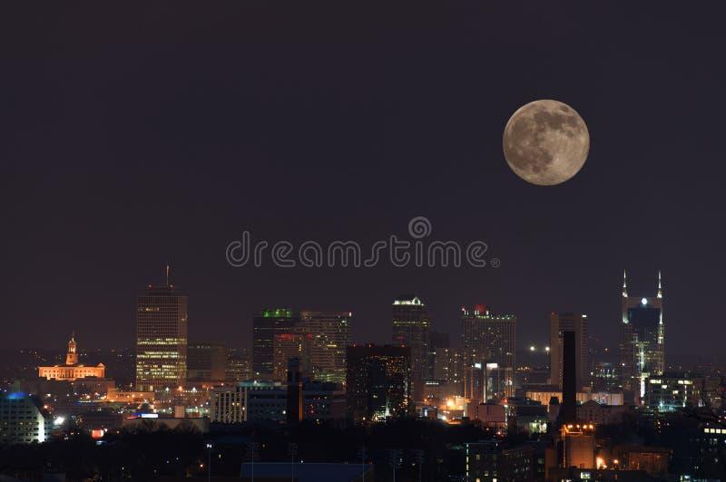 De Volle maan van Nashville stock afbeelding