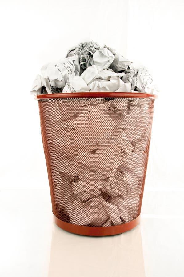 De volledige Bak van het Afval stock foto