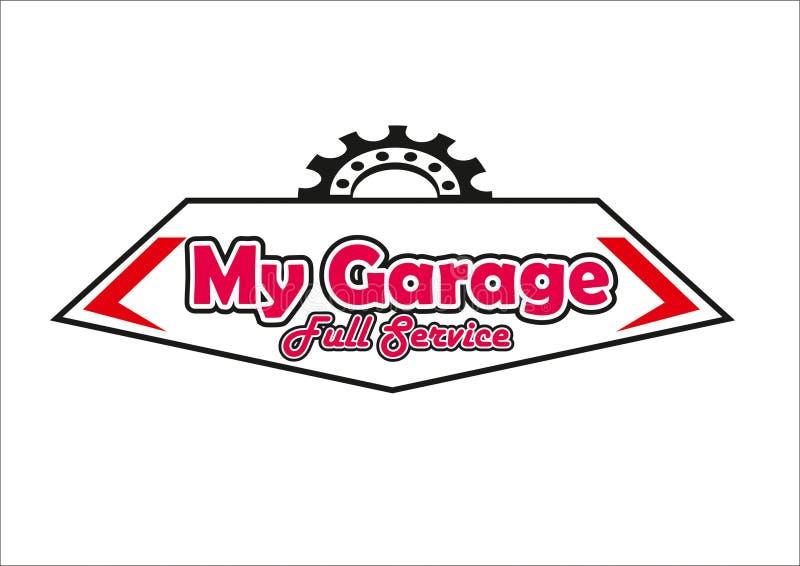 De volledige dienst van het garageembleem royalty-vrije stock foto's