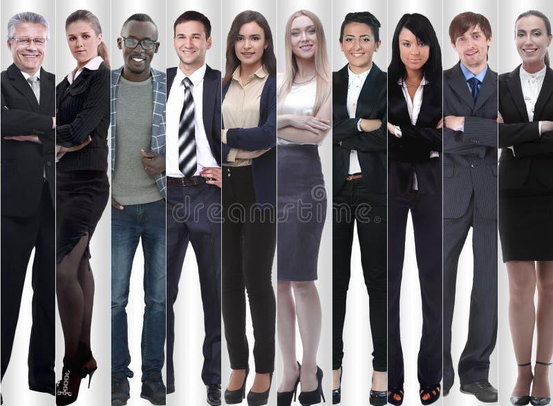In de volledige groei moderne succesvolle bedrijfsmensen royalty-vrije stock foto's