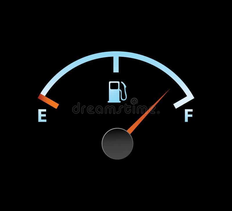 De volledige meter van het gas royalty-vrije illustratie