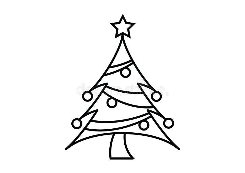 De volledige resizable editable vector van het kerstboompictogram vector illustratie