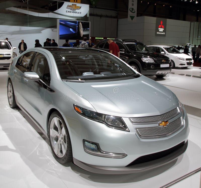 De Volt van Chevy - de Show van de Motor van Genève van 2010 royalty-vrije stock afbeelding