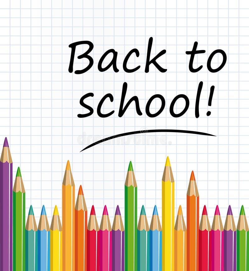 De volta à escola! ilustração do vetor