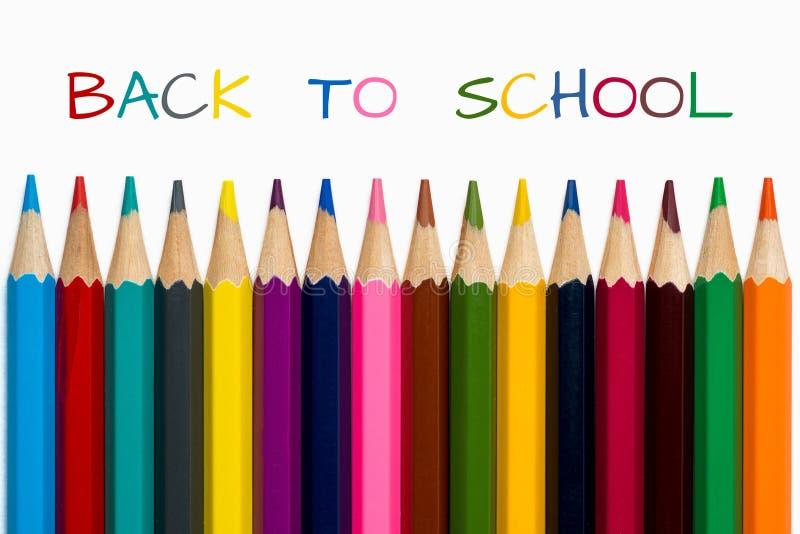 De volta à escola com lápis foto de stock