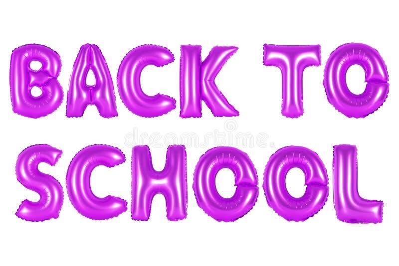 De volta à escola, cor roxa imagens de stock royalty free