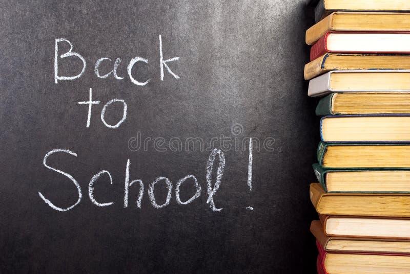 De volta à escola escrita imagens de stock royalty free