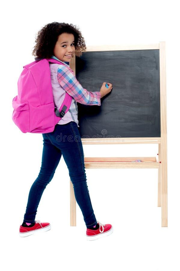 De volta à escola - estudante pequena imagem de stock