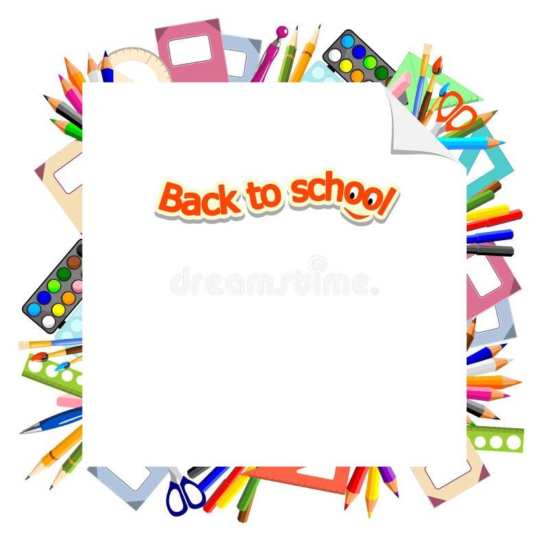 De volta à escola - fundo ilustração do vetor