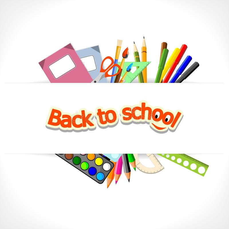 De volta à escola - fundo ilustração stock