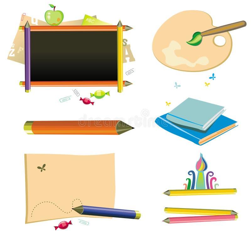 De volta à escola - jogo do ícone. ilustração stock
