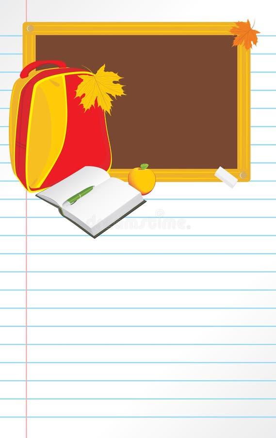 De volta à escola. Página do caderno ilustração stock