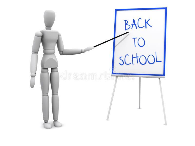 De Volta à Escola Que Aponta à Placa Fotografia de Stock
