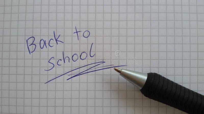 De volta à escola Um lembrete É hora de ir para trás à escola imagem de stock royalty free