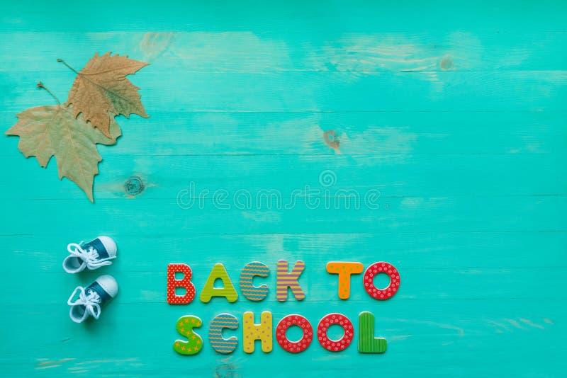 De volta ao conceito da escola E fotografia de stock royalty free