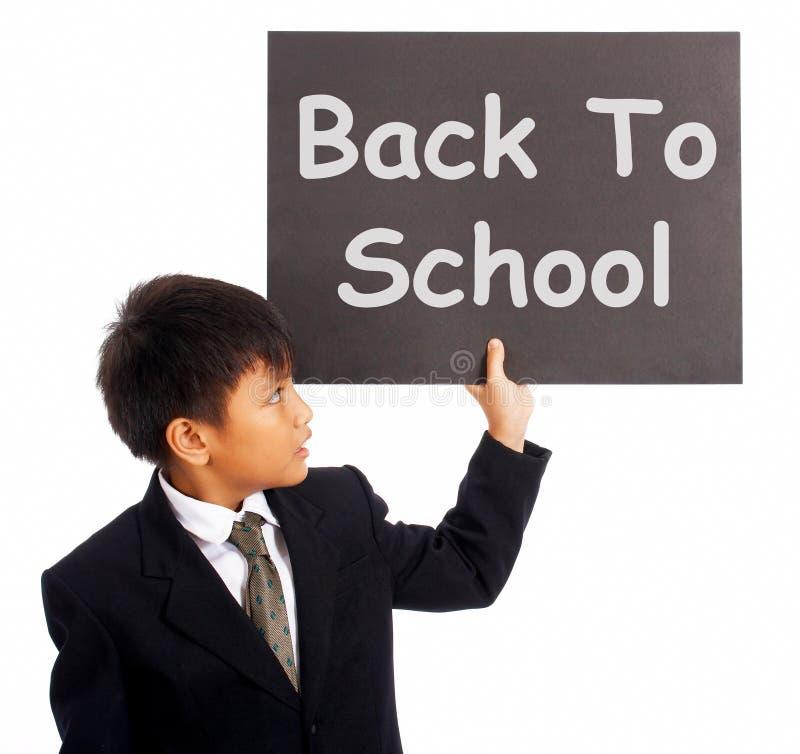 De volta ao sinal da escola como o símbolo da instrução fotos de stock royalty free