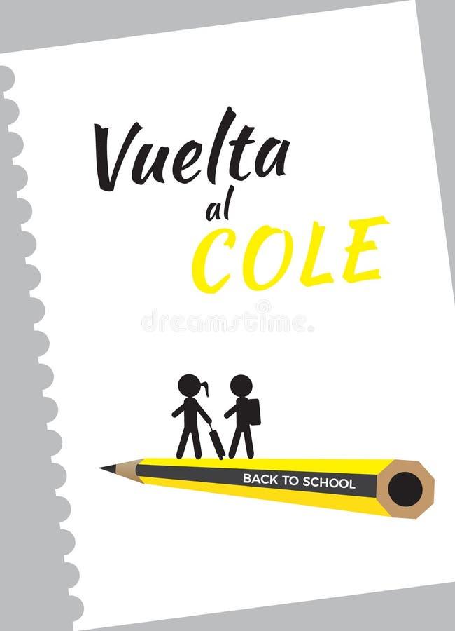 De volta ao vetor da escola ilustração stock