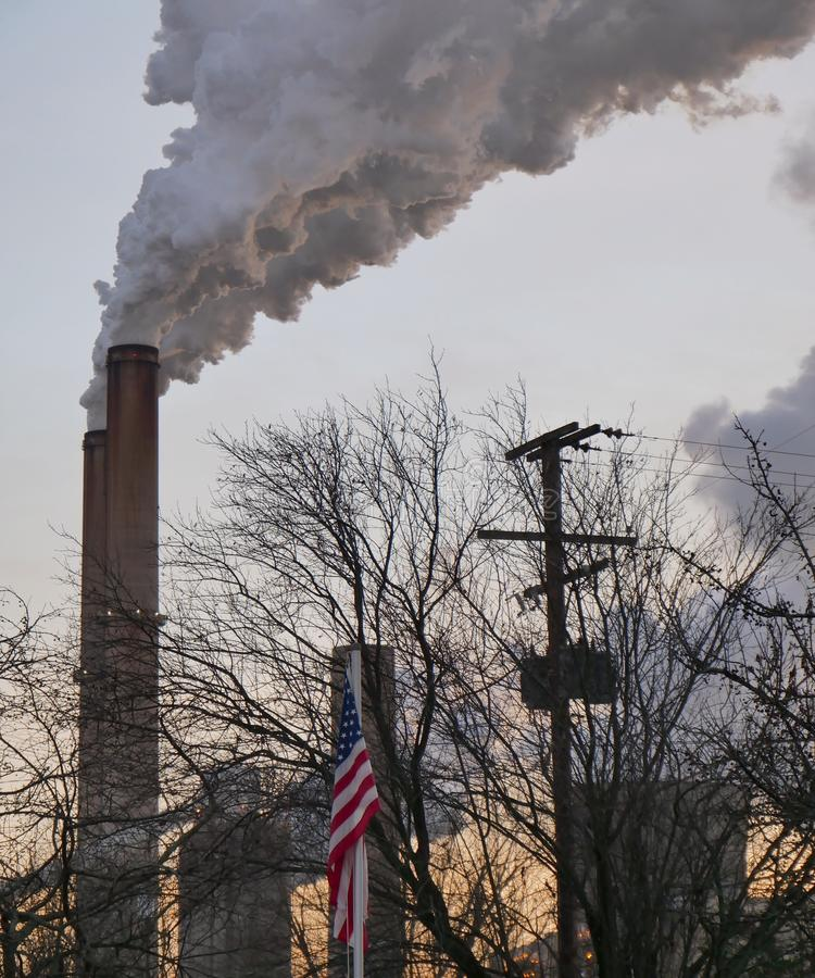 De volta aos poluidores velhos nos EUA fotos de stock royalty free