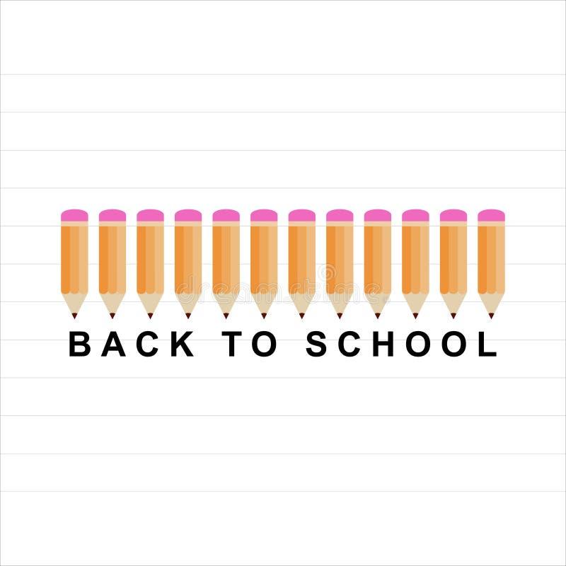 De volta ? escola ilustração stock