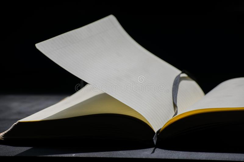 De volta a Noteblock da escola o caderno nota linhas do verão imagens de stock royalty free