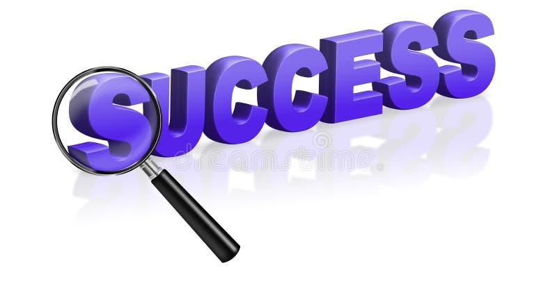 De voltooiing van succes slaagt succesvol royalty-vrije illustratie