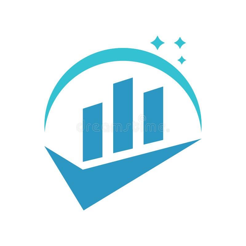De Vonkenboekhouding Logo Vector van de controlelijstgrafiek stock illustratie