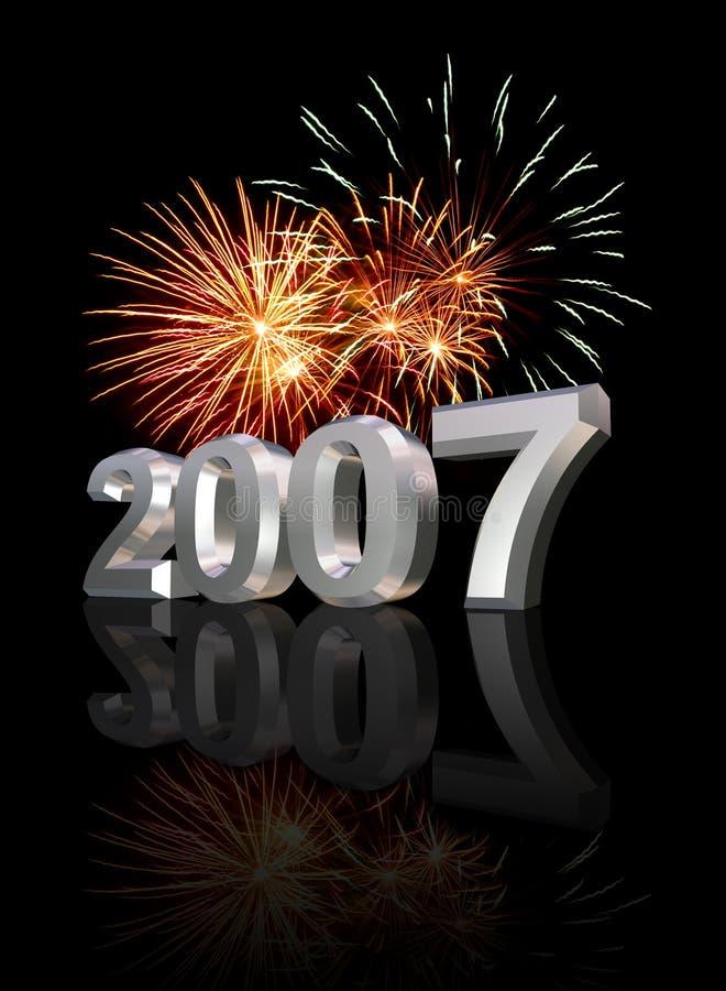 De Vooravond 2007 van nieuwjaren royalty-vrije illustratie