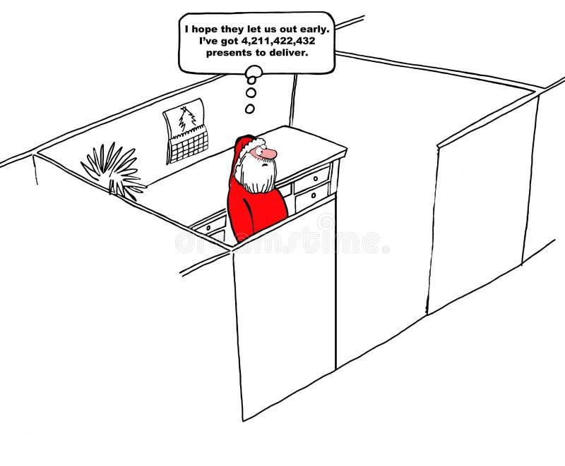 De vooravond van Kerstmis royalty-vrije illustratie