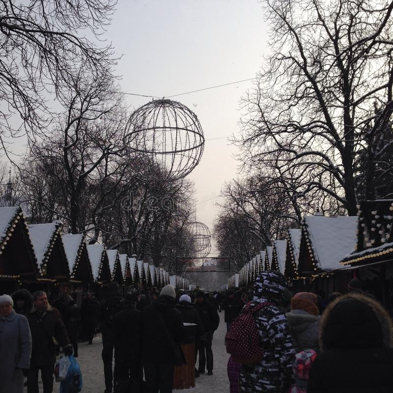 De vooravond van Kerstmis royalty-vrije stock afbeeldingen