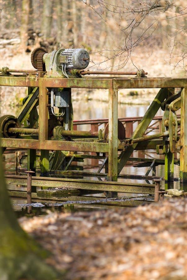 De voorbereiding van de hydraulicatest voor waterbeheersing royalty-vrije stock foto's
