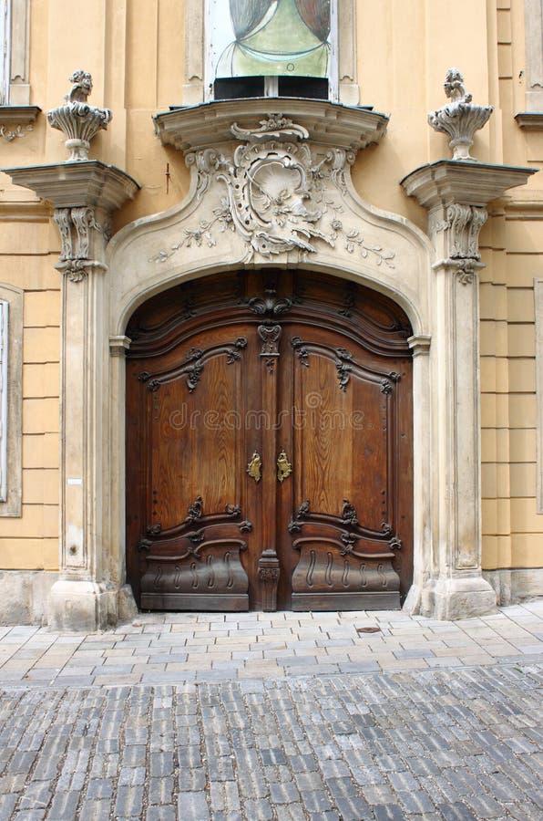 De voordeur van de renaissance stock foto