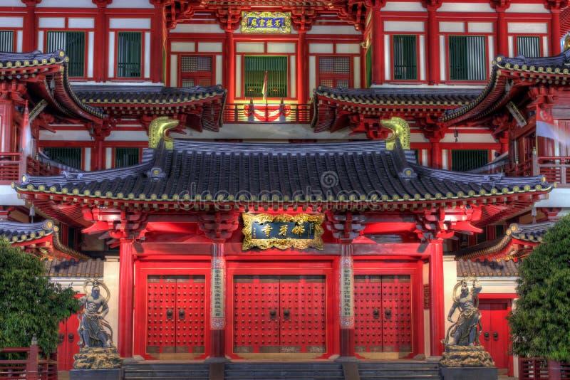 De Voordeuren van de Tempel van het Overblijfsel van de Tand van Boedha royalty-vrije stock afbeelding