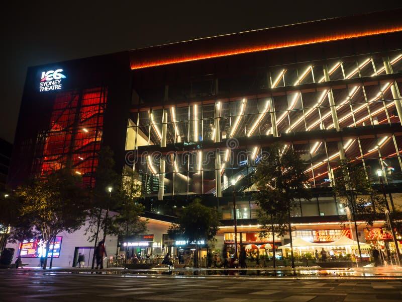 De voorgevel bouw van theater ICC van Sydney, eigentijds ontwerp, belangrijke technologie en multifunctionele ruimten royalty-vrije stock foto's