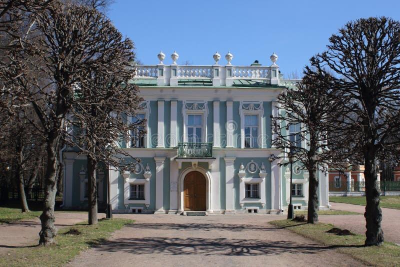 De voorgevel van het Italiaanse Huis in de Kuskovo-manor stock afbeelding