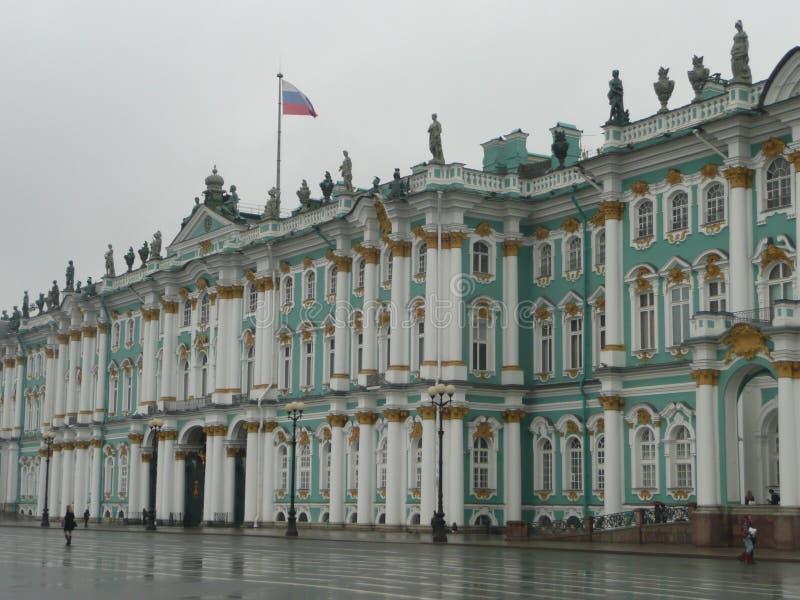De voorgevel van het kluismuseum in Rusland royalty-vrije stock afbeelding