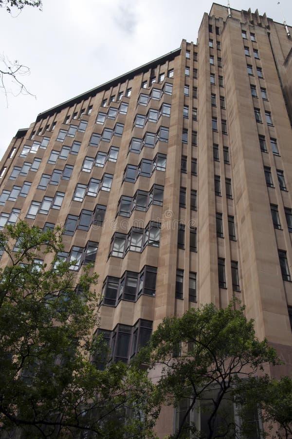 De voorgevel van de Stads Wederzijdse Verzekering die één van bouw van Art Deco van Australië de meest significante bouwen bouwde stock fotografie