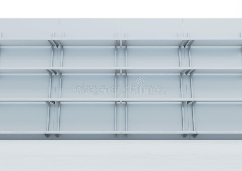 De Voorgevel van de supermarktplank vector illustratie