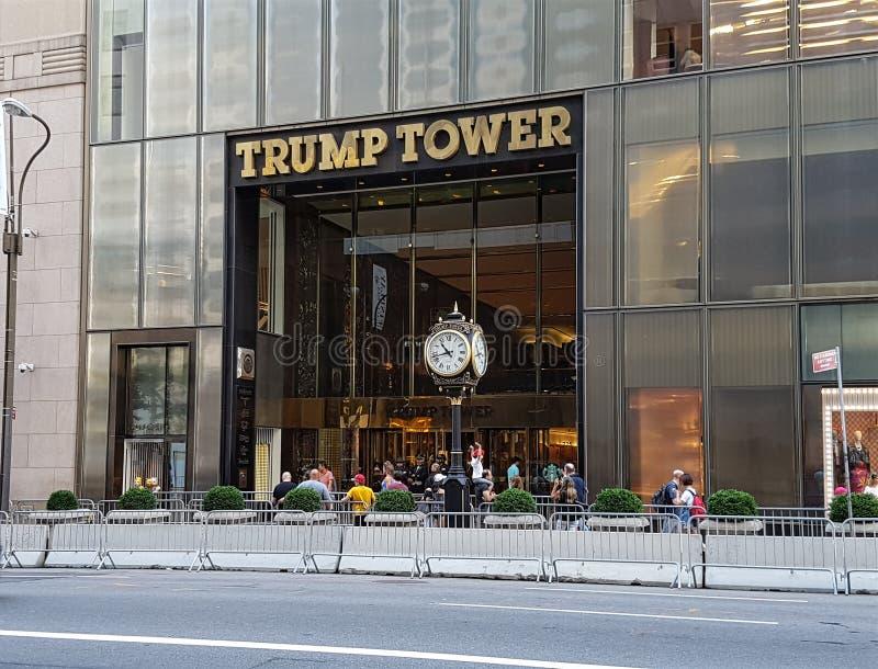 De voorgevel van de troeftoren in de stad van New York royalty-vrije stock afbeeldingen