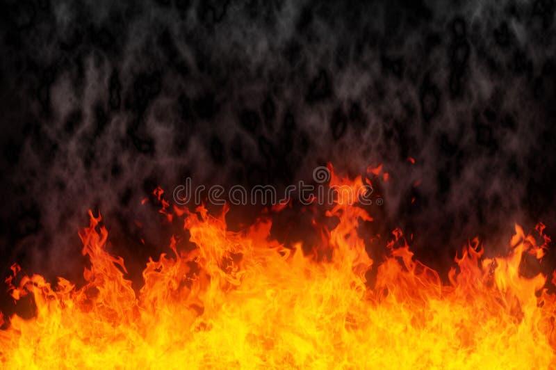 De voorgrond van de brand