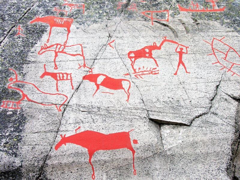 De voorhistorische Gravure van de Steen royalty-vrije stock afbeelding