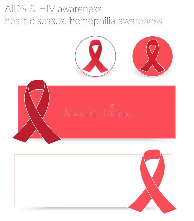 Download De Voorlichting Van AIDS En HIV Vector Illustratie - Illustratie bestaande uit ziekte, banners: 54081169