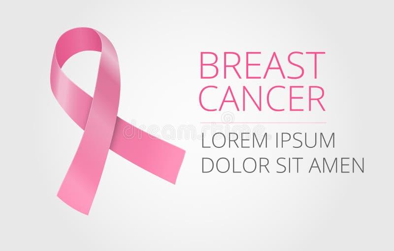 De voorlichting van borstkanker royalty-vrije illustratie