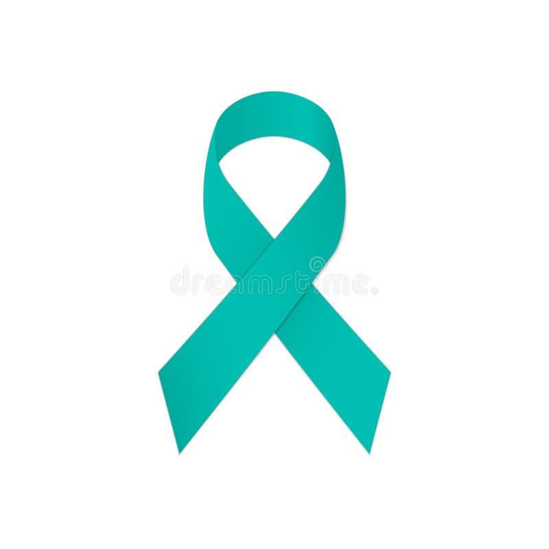 De voorlichting van het wintertalingslint op een witte achtergrond Symbolische Post Traumatische Spanningswanorde - PTSD stock illustratie