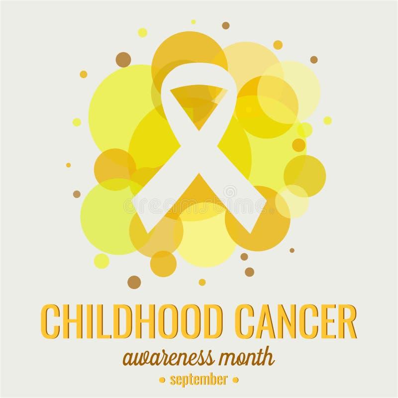 De Voorlichting van kinderjarenkanker vector illustratie