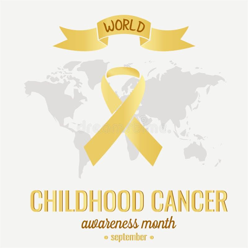 De Voorlichting van kinderjarenkanker royalty-vrije illustratie