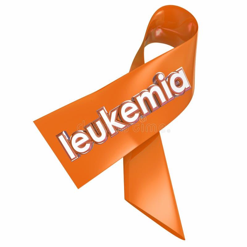 De Voorlichtings Medisch Onderzoeksfonds van het leukemie Oranje Lint - fokker royalty-vrije illustratie
