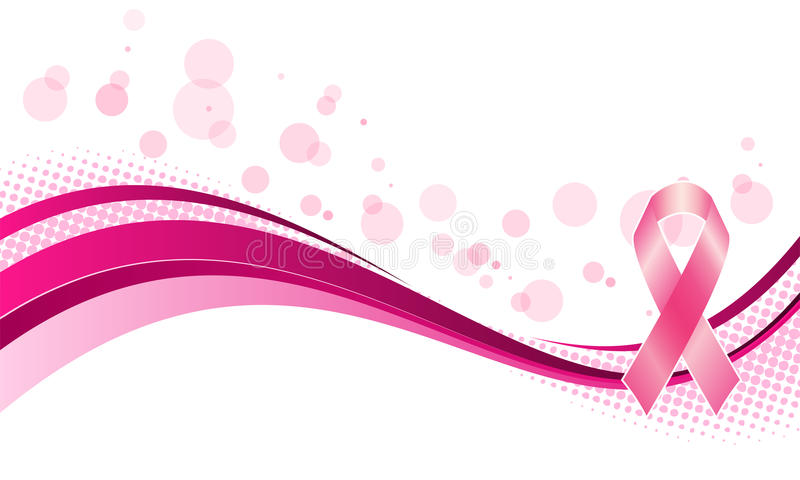 De voorlichtingsachtergrond van borstkanker vector illustratie